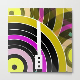 Bright retro records Metal Print