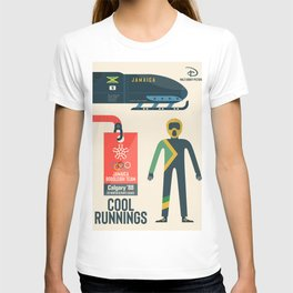 Cool runnings, Jamaica bobsled team movie, olympic games poster, Calgary 1988, Winter Olympics, John Candy T-shirt