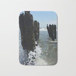 Ocean waves crash Bath Mat