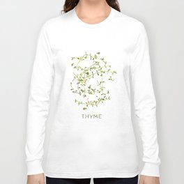 Watercolor Thyme Artwork Long Sleeve T-shirt