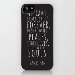 We Travel Forever iPhone Case