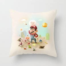 Too Super Mario Throw Pillow