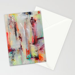 Epiphany ○ colorful, rainbow, contemporary abstract artwork Stationery Cards