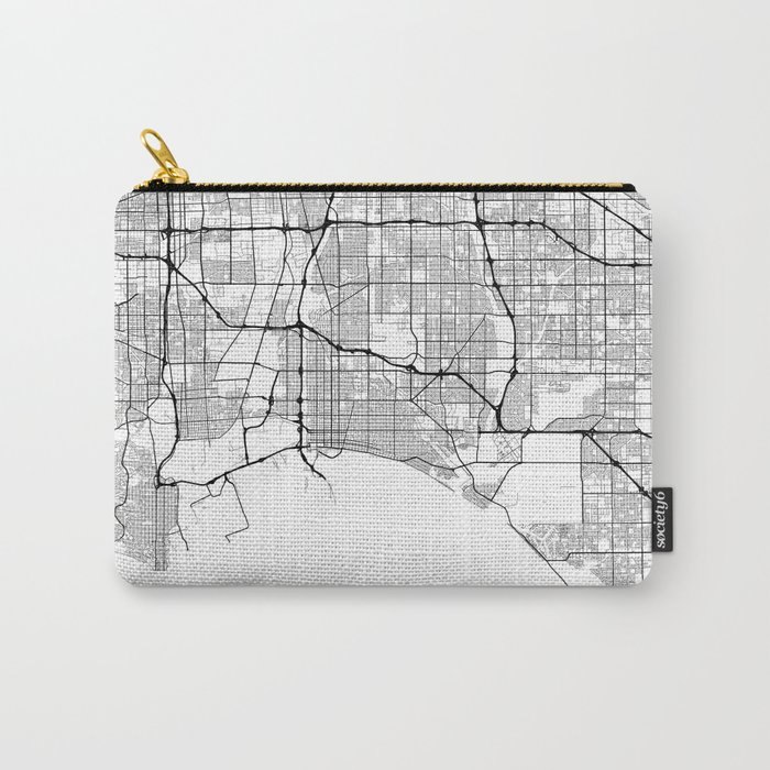Minimal City Maps - Map Of Long Beach, California, United States Carry-All Pouch
