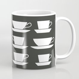 Pattern of Coffee and Tea Cups Coffee Mug