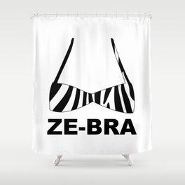 Ze-bra Shower Curtain