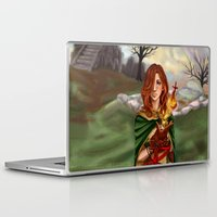 dark souls Laptop & iPad Skins featuring Dark Souls 2  - Emerald Herald by Vivid-K