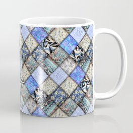 Faux Patchwork Quilting - Blues Coffee Mug