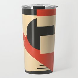 Geometrical abstract art deco mash-up Travel Mug