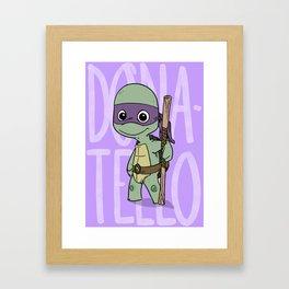 TMNT: Donatello (Cute & Dangerous) Framed Art Print