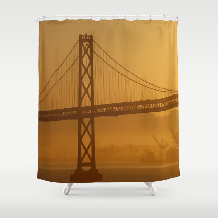 Stunning California Golden Sunrise Shower Curtain