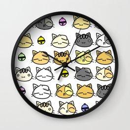 Meowy Days Wall Clock