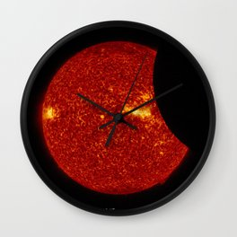 SDO Sees Solar Eclipse Wall Clock