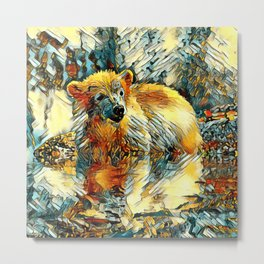 AnimalArt_Polarbear_20170701_by_JAMColorsSpecial Metal Print