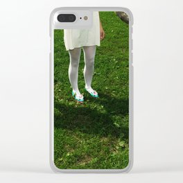Where am I? Who are you? Clear iPhone Case