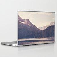 lake Laptop & iPad Skins featuring Morning Mountain Lake by Kurt Rahn