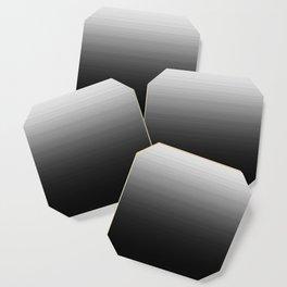 Black & White Ombre Gradient Coaster