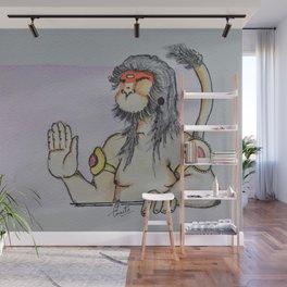 Painting of Lord Hanuman / Painting of Monkey King / Original painting of Amrita Gupta Wall Mural