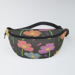 Dark Florals- Multi Coloured Fanny Pack
