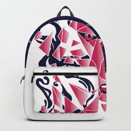 Wolf head polygon Backpack