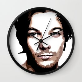 LOUIS TOMLINSON Vector Portrait Wall Clock