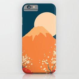 Japanese Mount Fuji Retro Pop Art Landscape iPhone Case