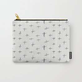 Abstract hand painted black white watercolor crosses Carry-All Pouch