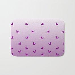 Purple Butterflies Bath Mat