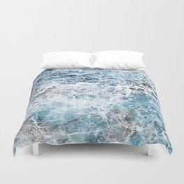Sea foam blue marble Duvet Cover