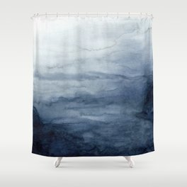 Indigo Abstract Painting | No.2 Shower Curtain