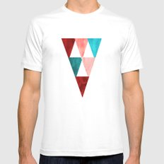 Triangles MEDIUM Mens Fitted Tee White