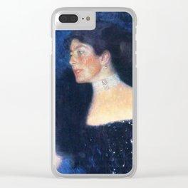 "Gustav Klimt ""Portrait of Rose von Rosthorn-Friedmann"" Clear iPhone Case"