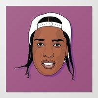asap rocky Canvas Prints featuring ASAP Rocky by TheMohamz