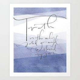 Truth - Elizabeth Cady Stanton Art Print