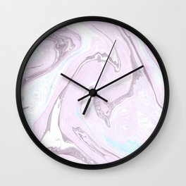 Pink Marble Art Wall Clock