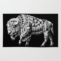 bison Area & Throw Rugs featuring Bison by BIOWORKZ