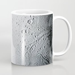 A masterpiece of deep time and wrenching gravity the tortured surface of Saturns moon Enceladus Coffee Mug