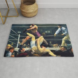 Classical Masterpiece 'Dempsey and Firpo' by George Bellows Rug