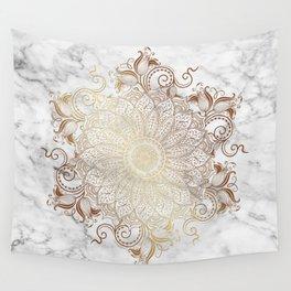 Mandala - Marble gold Wall Tapestry