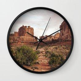 Desert Red Utah Rocks Wall Clock