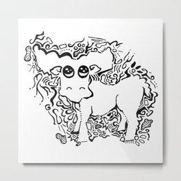 Moose Lineart Metal Print