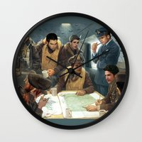 teen wolf Wall Clocks featuring Teen Wolf Pilot AU by DeadPlants