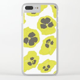 Lima floral pattern Clear iPhone Case