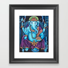 Blue Ganesha Framed Art Print