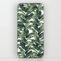 banana leaf iPhone & iPod Skins featuring BANANA LEAF by bows & arrows