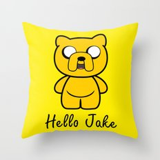 Hello Jake Throw Pillow