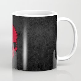 Flag of Malta on a Chaotic Splatter Skull Coffee Mug