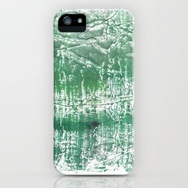 Sea green blurred watercolor pattern iPhone Case
