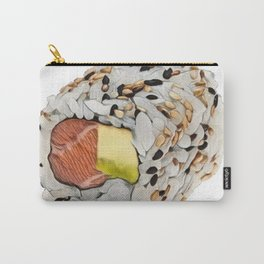 Sushi Uramaki seaweed outside block extruded rolled snack Carry-All Pouch