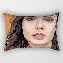 Rotoscope Gal Gadot Rectangular Pillow